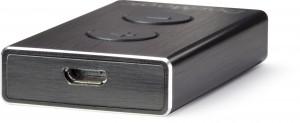 DacMagic XS Studio Shot - White Background on side, USB socket showing