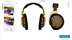 HD800 Screen shot in design studio